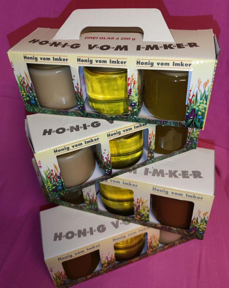 Geschenkverpackung Honig